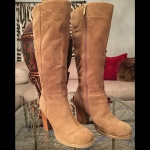 Nine West Boots.  9.5 M Taupe Cardiff Suede